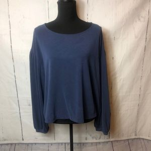 Madewell Womens Blouse Size Large Blue Long Sleeve